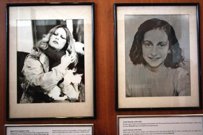 Brigitte Bardot. Anne Frank.