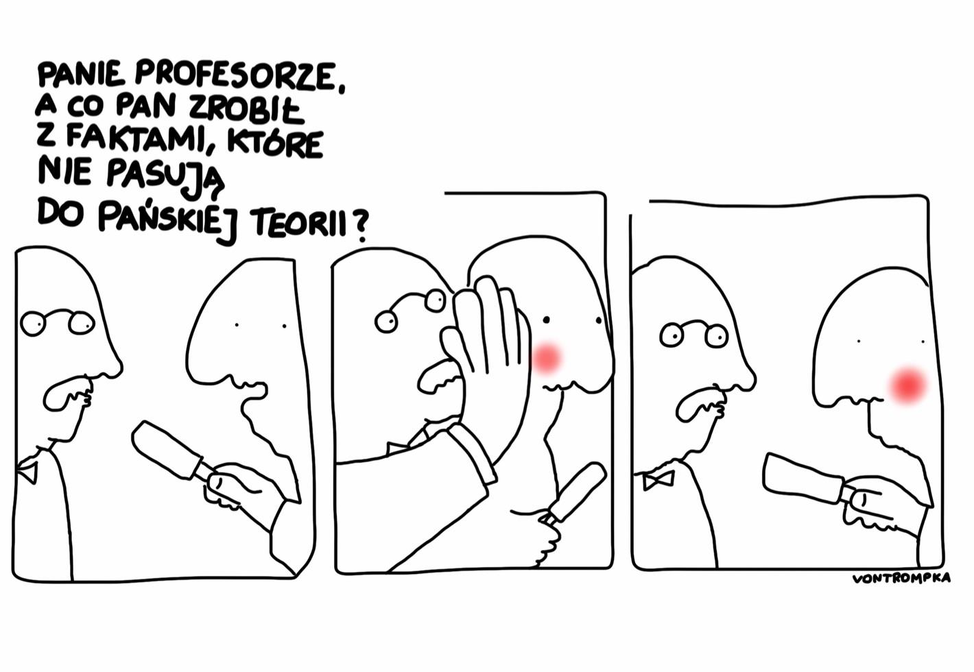 panie profesorze, a co pan zrobił z faktami, które nie pasują do pańskiej teorii?