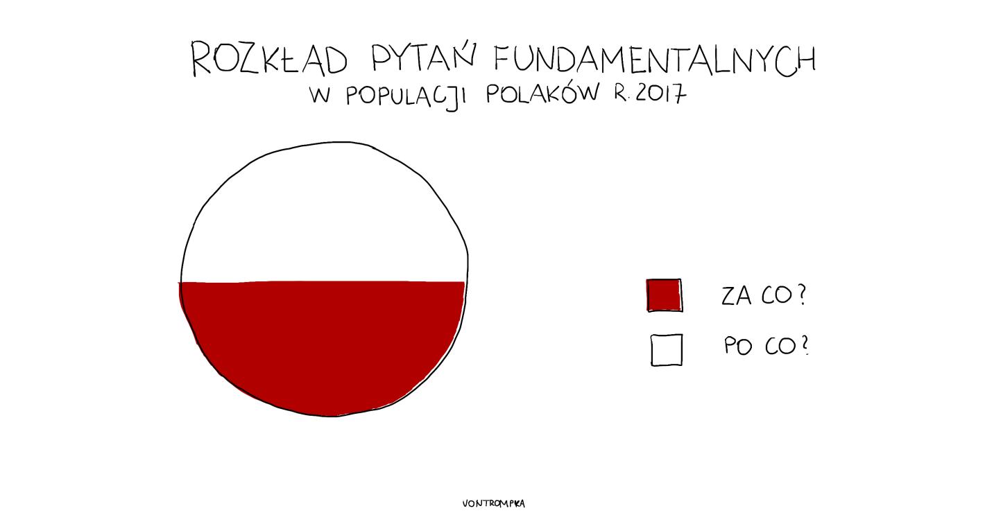 rozkład pytań fundamentalnych w populacji Polaków r. 2017. za co? po co?