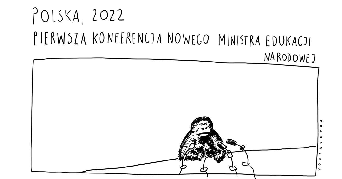 Polska, 2022. Pierwsza konferencja nowego ministra edukacji narodowej