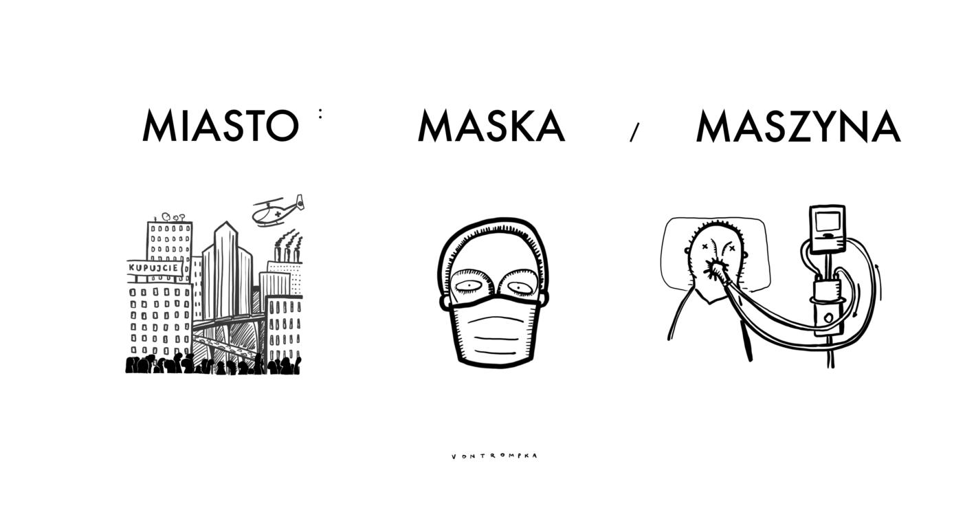 miasto: maska / maszyna