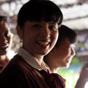 Medan, Sumatra - kandydatki na stewardessy uczą się na nas angielskiego