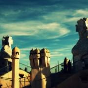 i jeszcze Gaudi, przesterowany - dach la Pedrery.