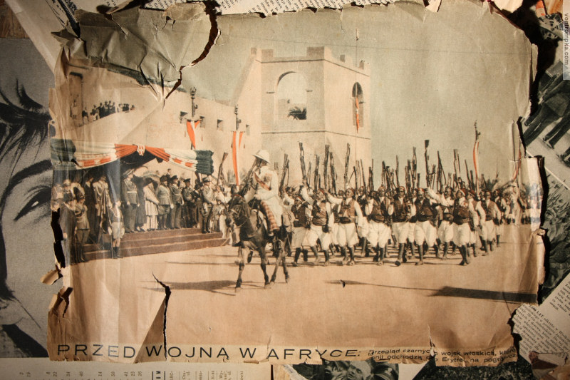 PRZED WOJNĄ W AFRYCE: Przegląd czarnych wojsk włoskich, które (...) odchodzą do Erytrei na pogranicze (...)